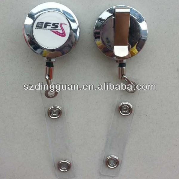 Metal retractable reel badge holders, badge reel