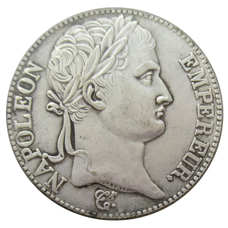 Reproduction France 1811 A/AM/B/D/H/I/K/M/Q/T/U/W 5 Francs - Napoleon I french empire Silver Plated Coins