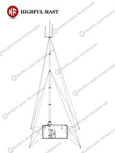 Flipped mobile communications system telescopic base station
