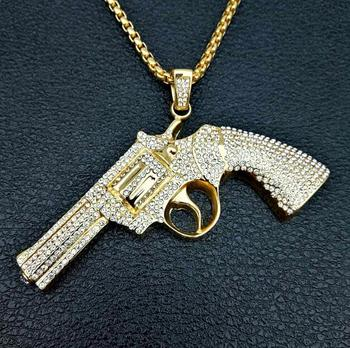 wholesale jewelry necklace pendant gun army necklace