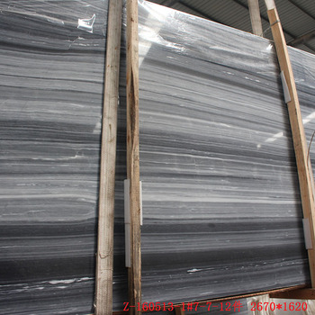 Natural Grey Wood Marble Sichuan Stone Wall Tile