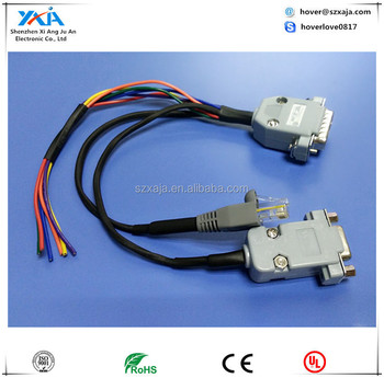 DB15 Male to DB9 Female RJ45 connector_350x350 db15 male to db9 female rj45 connector wire harness cable assembly