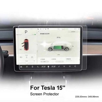 Model 3 Best selling on Amazon 15inch Car GPS Tempered glass screen protector for Tesla