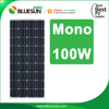 BlueSun 100W solar pv panel 100 watt mono crystalline 12v solar panel 100wp