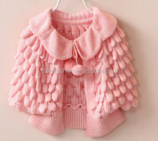 New Latest Novetly Handmade Crochet Winter Kids Baby Shawl Poncho