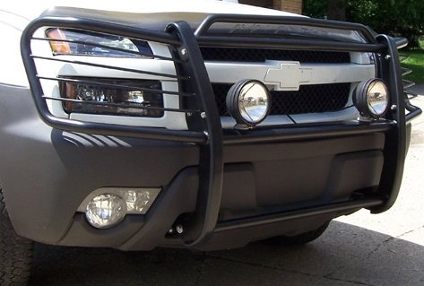 Chevy Avalanche 1500 With Cladding Black Brush Guard / Grille Guard for the 2003, 2004, 2005, and 2006 Avalanche 1500 With Cladding