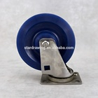 SS Heavy duty 5 Inch Solid Polyurethane 304 stainless steel trolley caster