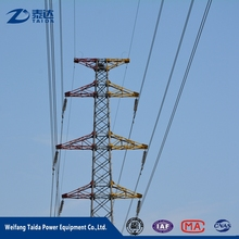 2017 Overhead Distribution Three Circuit 66kV Steel Electric Power Tower