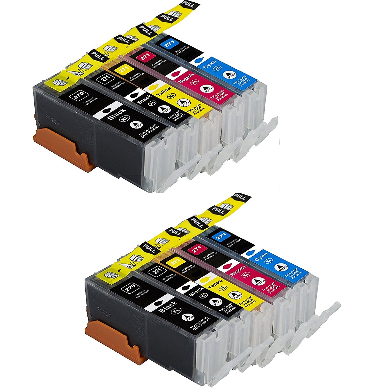 Oimage 10-Pack Compatible Canon CLI-271 XL PGI-270 XL Ink Cartridge Use for Canon Pixma MG7720, MG6820, MG6821,MG6822, MG5720, MG5722, MG5721 Printer PGI-270XL CLI-271XL