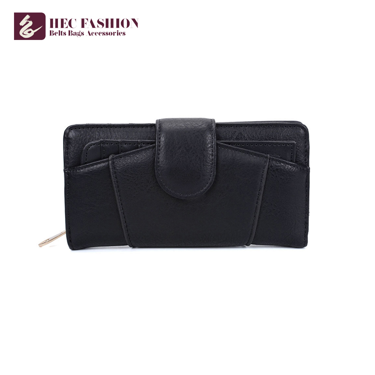 HEC Wholesale Lady Coin Purse Simple Style Woman Leather Wallet