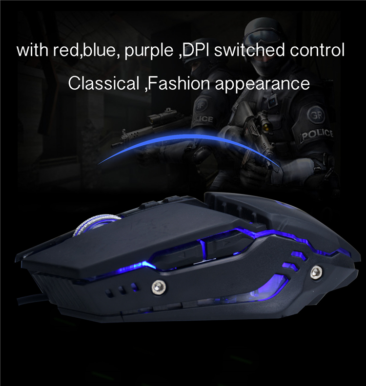 7d cheap gaming mouse with backlights