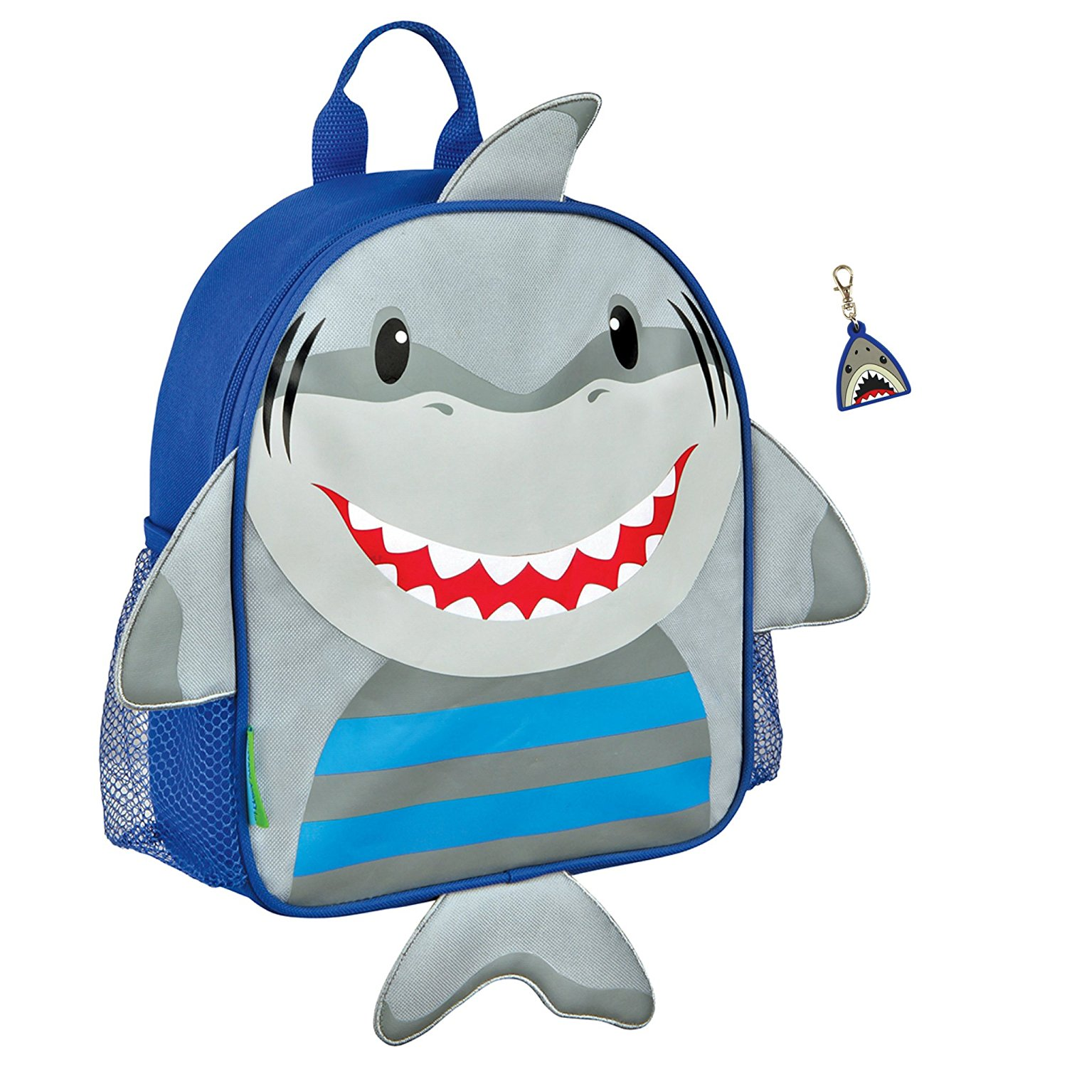 7f1ad91bc594 Buy Stephen Joseph Boys Mini Sidekick Shark Backpack and Zipper Pull ...