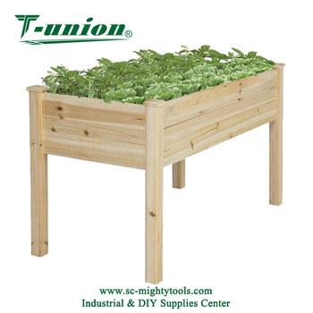 Wooden Raised Vegetable Garden Bed Elevated Planter Kit Grow