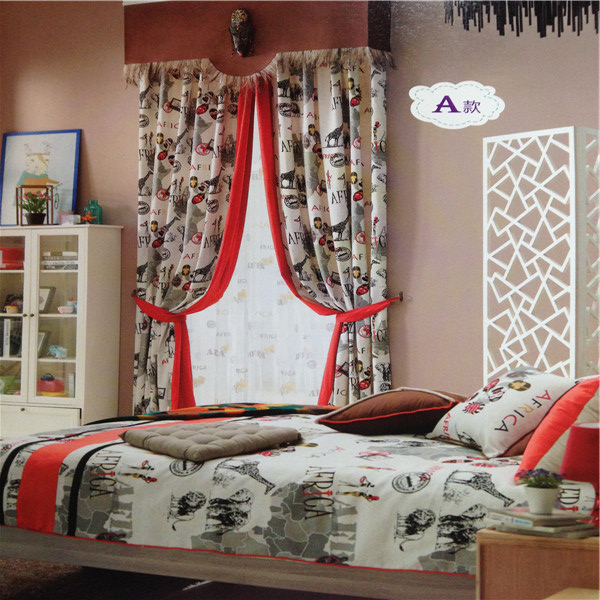 Different pattern cartoon curtain dressing kid room