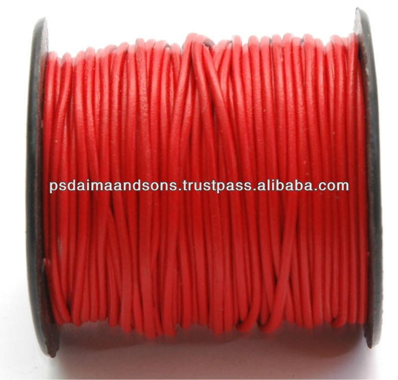 Wholesale Round Leather Cords Manufacturer