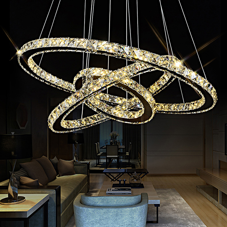Hot Sale Modern Crystal Modern Crystal  Turkish Crystal Chandelier DIY Circle Chandelier