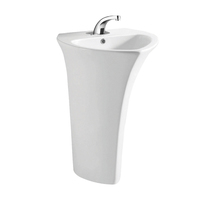 TA-9301 Luxury Integrated Freestanding Pedestal Basin Hotel Bathroom Porcelain Sinks with Pedestal