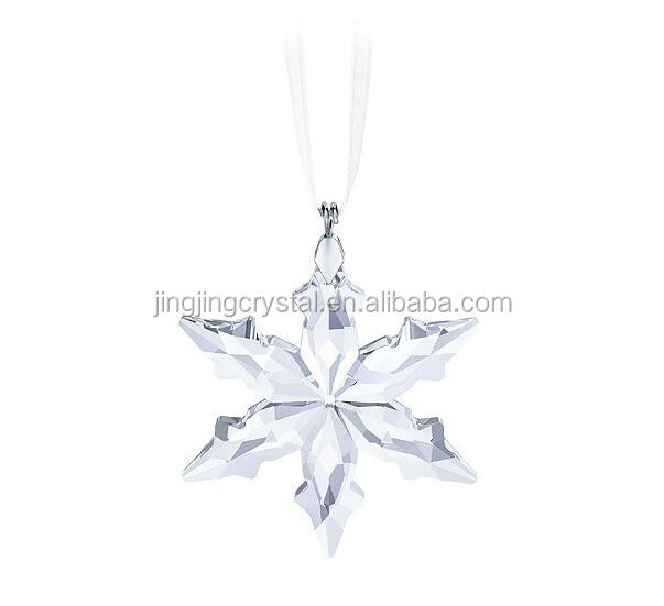 Clear Crystal Pendant Snowflake In Christmas Supplies Car Decor