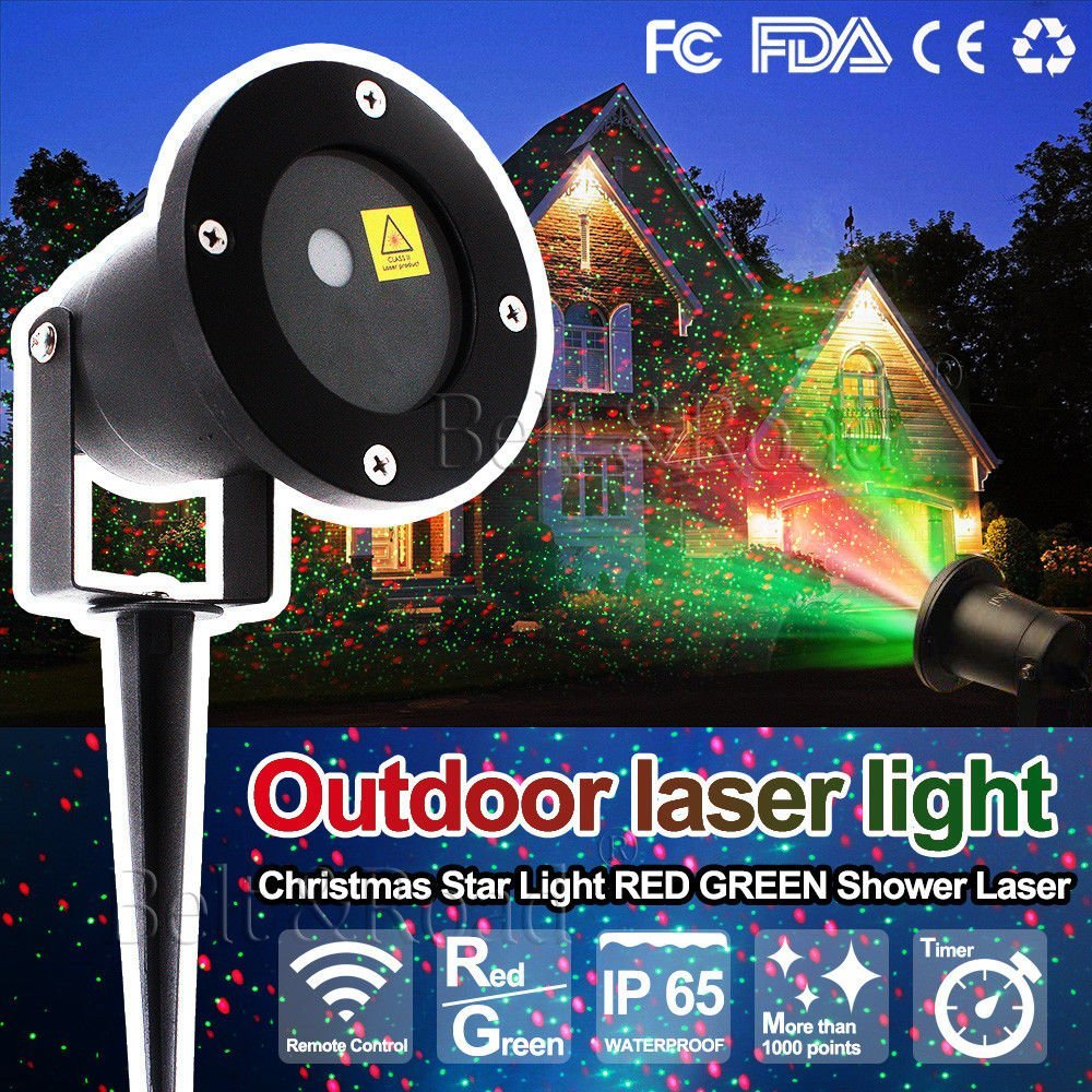 Belt&Road Christmas Festival Decoration Star Fairy Lights, Laser Projector Light Christmas Outdoor Landscape, LED Lamp for House, Nightwatch,Flower Tree Light and Garden Party Stage Decorations