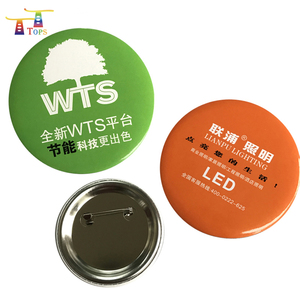 Party Supplies Wedding Decoration Crafts Plain Pharmaceutical Promotional Gifts Hand Made Button Badges Tinplate Pin Badge