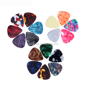 Wholesale Small MOQ Blank or Custom Logo Celluloid Guitar Picks