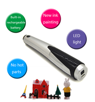 Cordless 3d Printing Pen Unique Gift Power Adapter 3D Handle for Artist