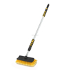 car brush with telescopic handle water flow through PVC soft bristles