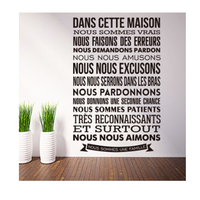 Hot selling large size living room letter wall stickers