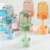 Bathroom set kids toothpaste dispenser plastic toothbrush holder with cup