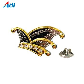 8a6b22f84ec custom carnival crown die cast metal gold silver lapel pin with butterfly  cluth