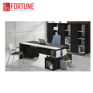 Guangzhou supplier full set executive furniture office desk with back cabinet and side table