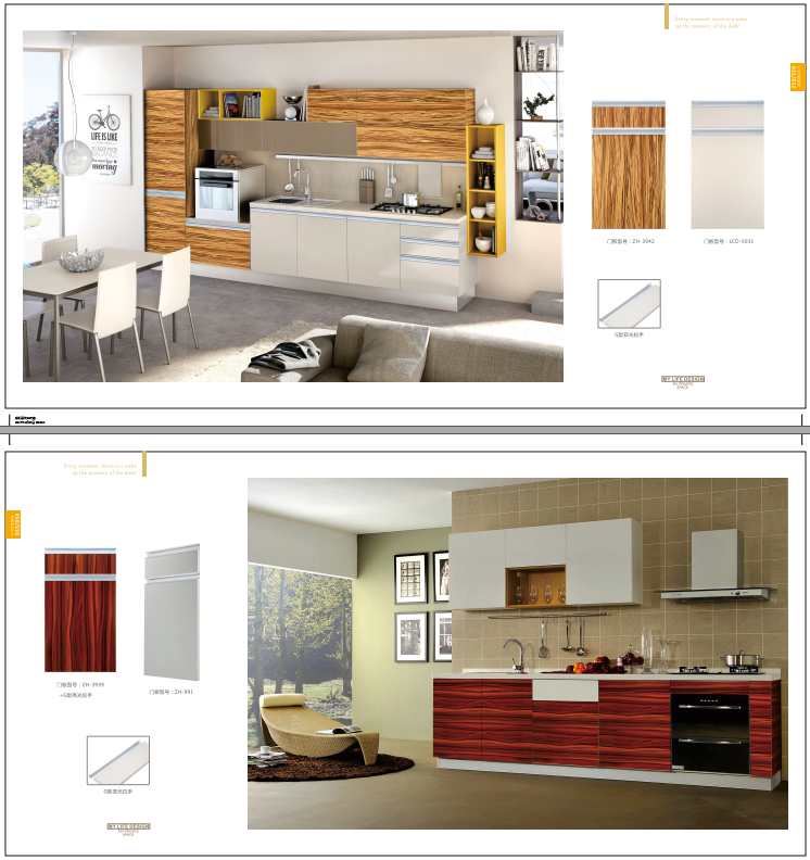 Germany PETG Raw Material Kitchen Cabinet Designs Shutter Supplier Made In  China ... Part 57