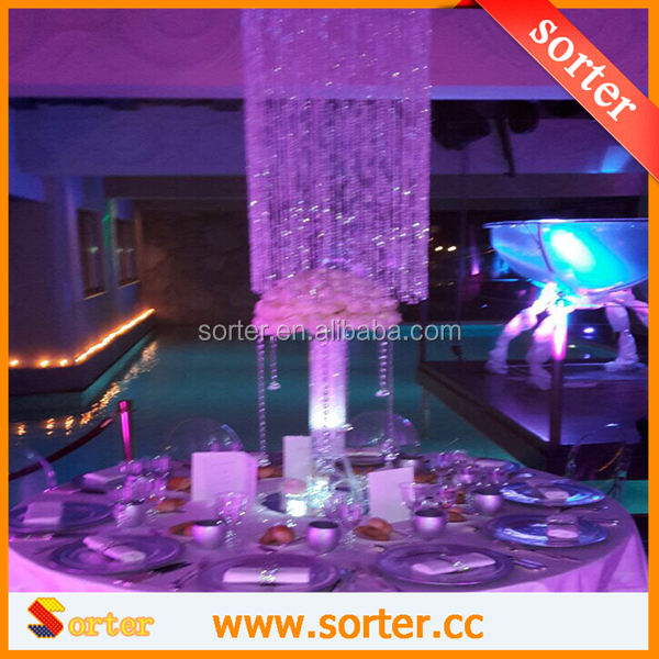 HOT! FASHION CRYSTAL BEAD GARLAND WEDDING CENTERPIECE DECORATION