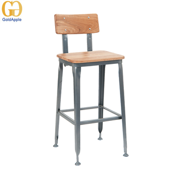 Awe Inspiring Heavy Duty Solid Wood Bar Chair With Metal Base Buy Bar Chair Metal Wood Bar Chair Antique Solid Wood Bar Chair Product On Alibaba Com Gmtry Best Dining Table And Chair Ideas Images Gmtryco