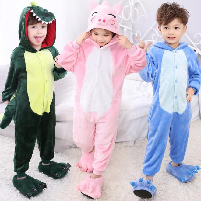 zm53593a promotion wholesale winter kids jumpsuit animal pajamas