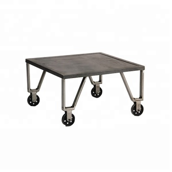 Style Modern Small Tea Table With Wheels Metal Coffee Product On