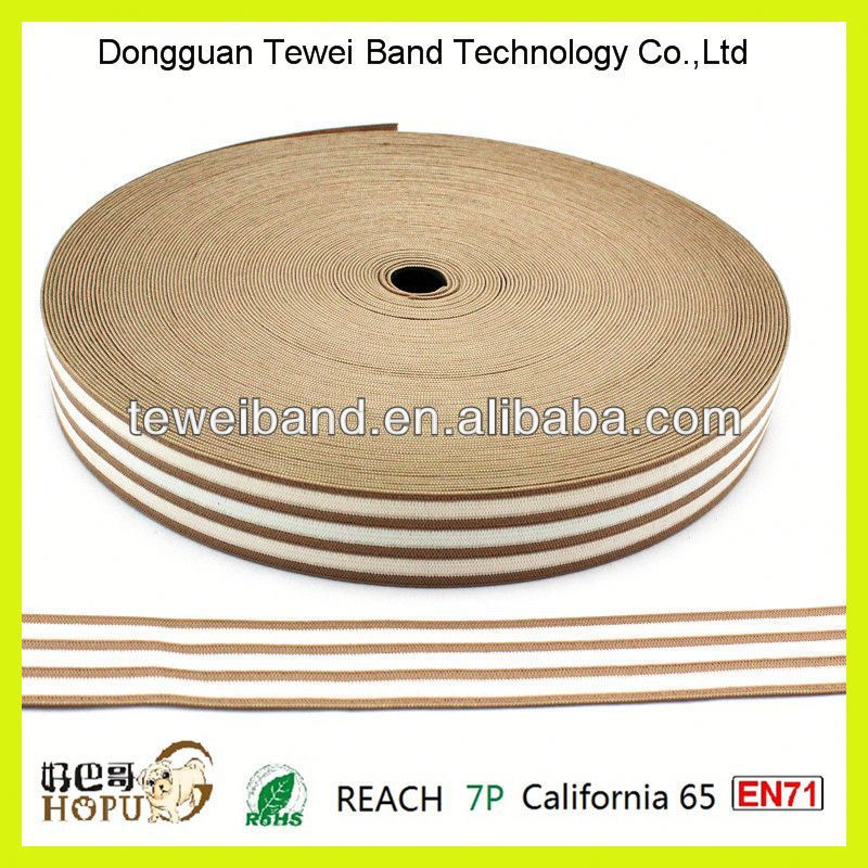 Good elongation hard foldover gripper elastic band