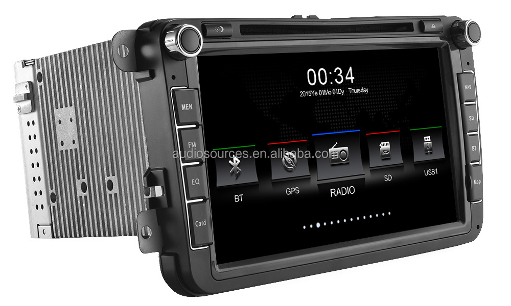 8inch DVD car audio video entertainment navigation system for volkswagen with rds , phone link ,