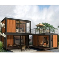 coffee shop and resort use modular steel beach villa house