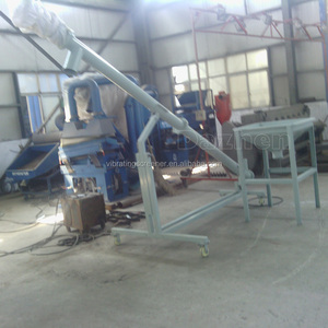 Small horizontal silo cement screw conveyor