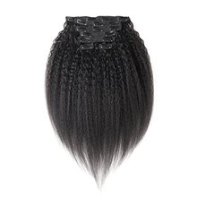 8 inch Blonde Clip In Natural Straight Remy Indian Sexi <span class=keywords><strong>Clips</strong></span> Uitbreiding, kopen Beste Kinky Straight Clip-in Voor Menselijk Haar Extens