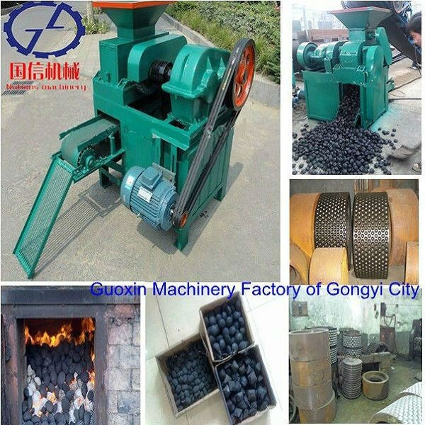 coke /coal /charcoal different size and shape charcoal briquette machine
