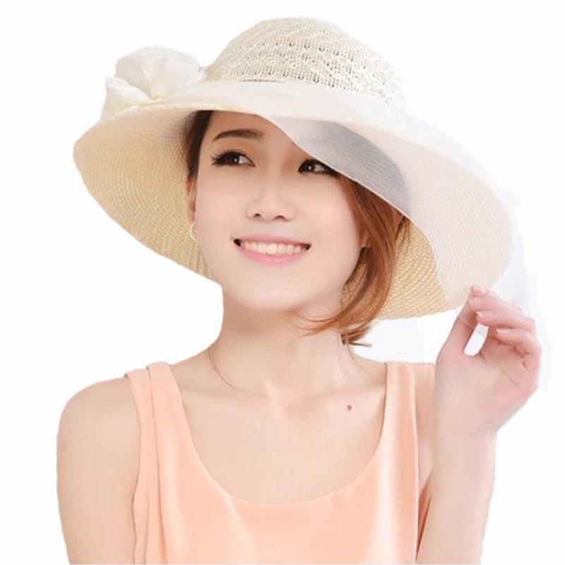 aa8ea7806ce Buy 2015 new fashion women wide brim summer beach sun hat straw female cap  kentucky derby hats in Cheap Price on Alibaba.com