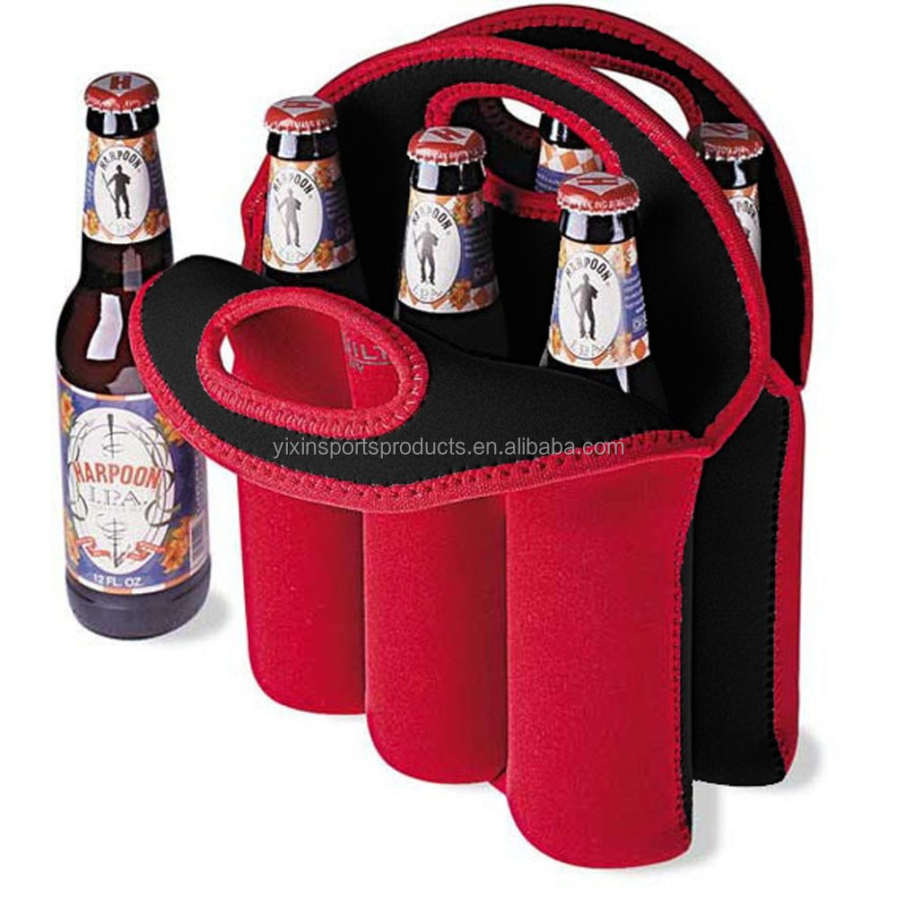 Insulated Neoprene 6 Pack Beer Carrier Tote Water Bottle Holder Baby Cooler Bag