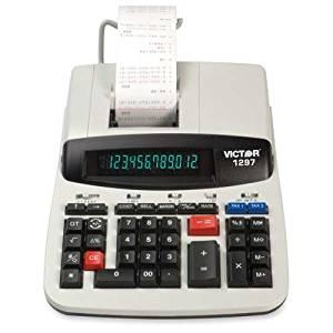 "12-Digit Calculator, 2-Color Heavy Duty Print, 8""x11""x3"", BG, Sold as 1 Each - VICTOR TECHNOLOGY 12-Digit Calculator, 2-Color Heavy Duty Print, 8""x1"