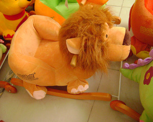 Cute customized Lion plush baby rocking chair toys animal rocker