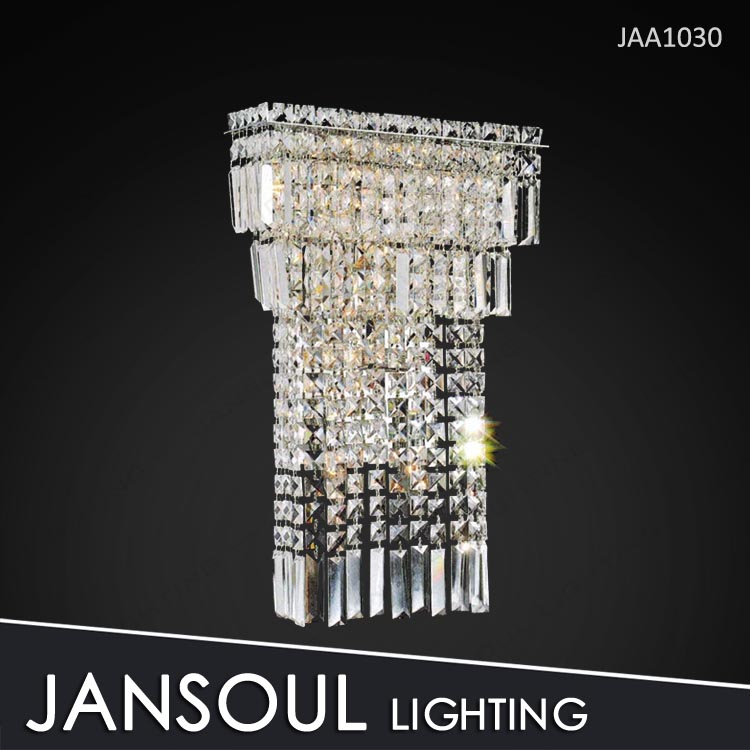 Pure crystal bathroom corded light wall sconce