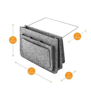 New Arrival Amazing design felt sofa bed caddy bedside storage organizer