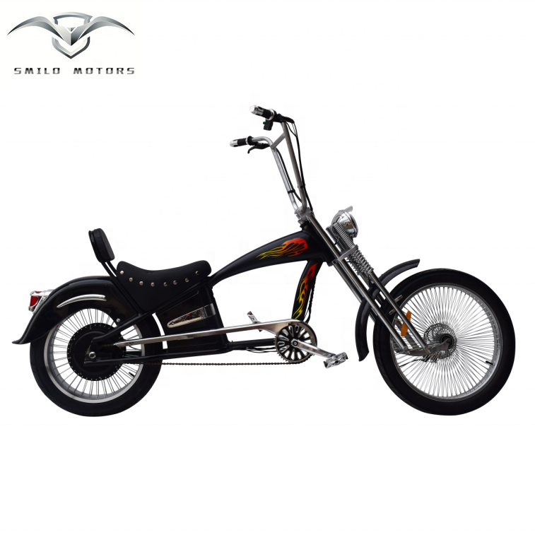 Smilo Echopper New Electric Chopper Bicycle With Aluminum Frame 48v Lithium  Battery And Suspension Chopper Fork - Buy Electric Chopper Bicycle