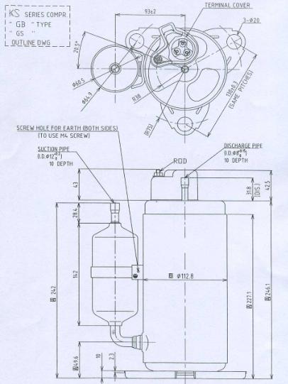 Rolling Piston Rotary Compressor Ks165vgbc For Refrigeration - Buy Air  Conditioner Compressor,Rotary Compressor,Rolling Piston Rotary Compressor